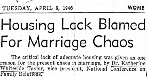 Read news coverage of the 1946 NCFR conference