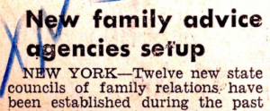 Read a news clipping from the 1947 NCFR conference