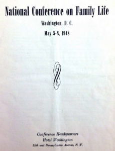 1948 National Conference on Family Life program