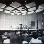 View of the stage at the 1962 NCFR Conference