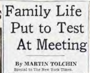 Read news coverage from the 1962 NCFR conference