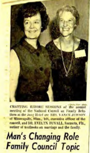 Read news coverage of the 1968 NCFR conference