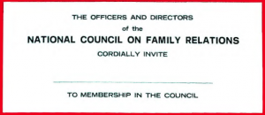 Read the NCFR membership brochure from 1968