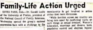 Read news coverage of the 1971 NCFR conference