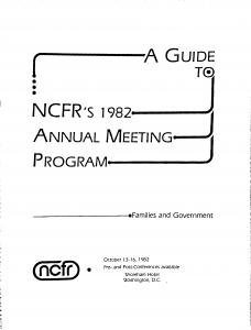 1982 conference program