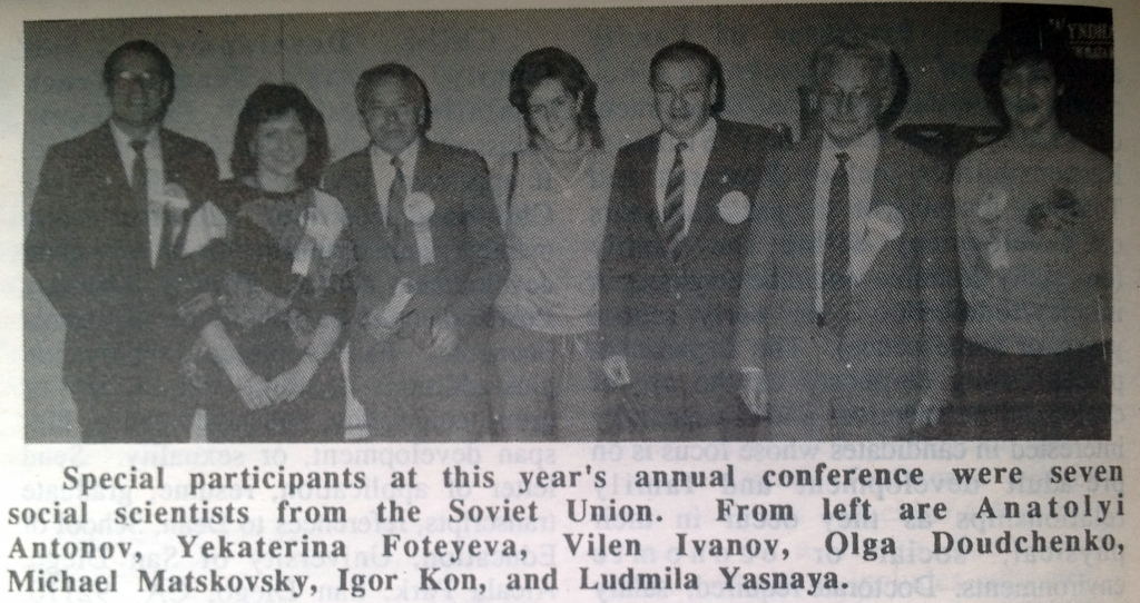 Eight visiting scholars from the USSR attended the 1988 NCFR conference