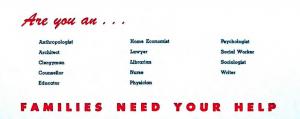 NCFR Membership brochure mid 1950s