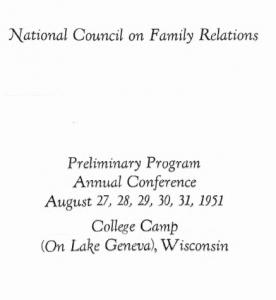 1951 program cover