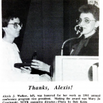 1991 Alexis Walker conference photo