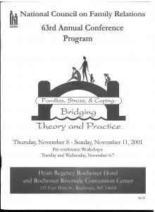 2001 conference program